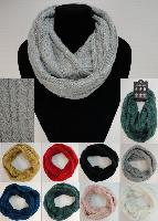 Knitted Infinity Scarf [Sequins-Cable Knit]